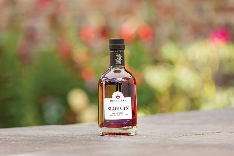 personalised sloe gin half bottle | branded gin park lane