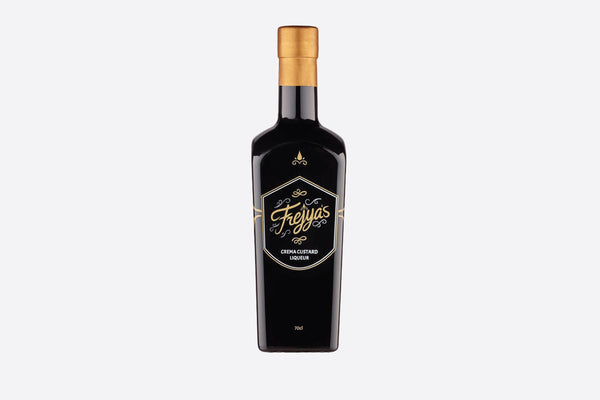 Bottle of Frejya's Crema Custard liqueur / Park Lane