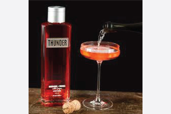 Personalised Thunder Rhubarb flavoured vodka