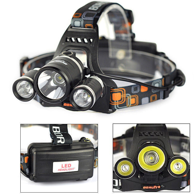 High power 3 light headlamp