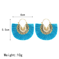 Sexy New Boho Chic Lace Stamped Earrings with Fringe in Multiple Color Options and Curved Lever Posts