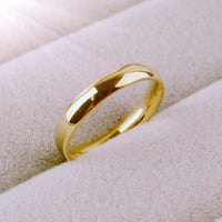 4mm Domed Wedding Band with Made in Jeweler's Alloy and Plated in White, Rose or Yellow Gold.  Available in Men's and Ladies Sizes