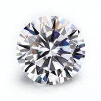 6.5mm (1ct) Round Brilliant Colorless E,F Loose Moissanite Stone Certified