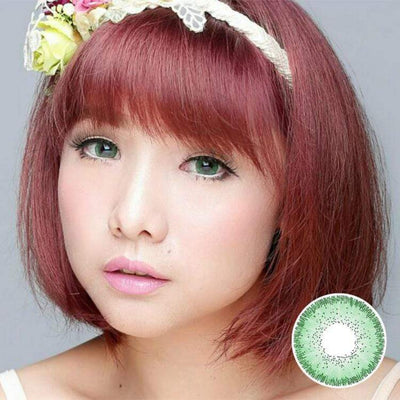 Avenue Highlight Green - Avenue - Softlens Queen - Natural Colored Contact Lenses