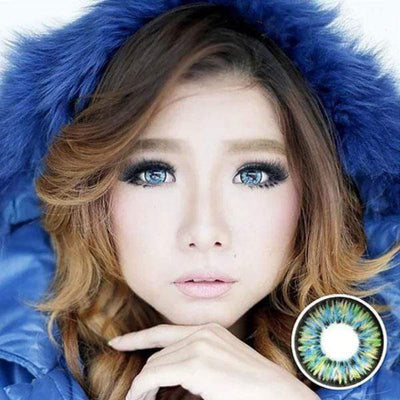 Dolly Eye Blue - The Dolly Eye - Softlens Queen - Natural Colored Contact Lenses