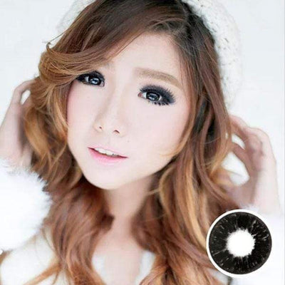 Dolly Eye Dark Black - The Dolly Eye - Softlens Queen - Natural Colored Contact Lenses