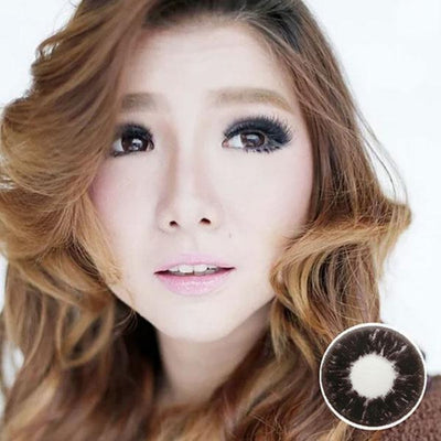 Dolly Eye Dark Choco - The Dolly Eye - Softlens Queen - Natural Colored Contact Lenses