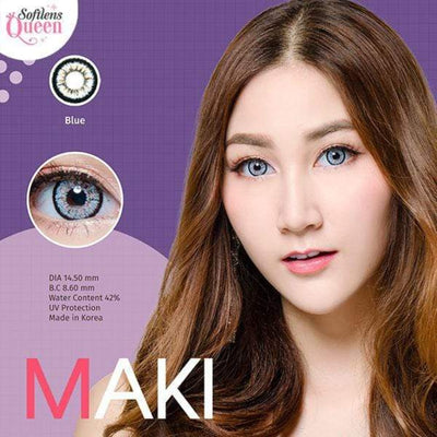 Dream Color Maki Blue - Dream Color - Softlens Queen - Natural Colored Contact Lenses