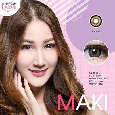 Dream Color Maki Brown - Dream Color - Softlens Queen - Natural Colored Contact Lenses