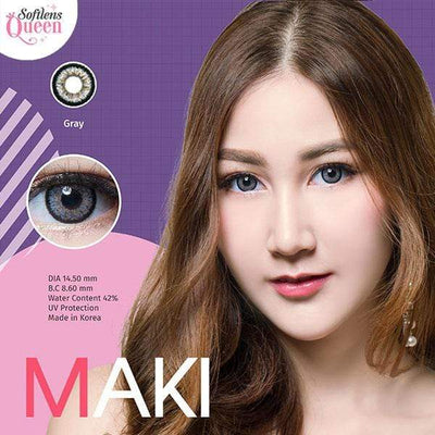 Dream Color Maki Gray - Dream Color - Softlens Queen - Natural Colored Contact Lenses