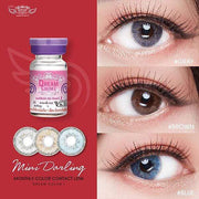 Dream Color Mini Darling Gray - Dream Color - Softlens Queen - Natural Colored Contact Lenses