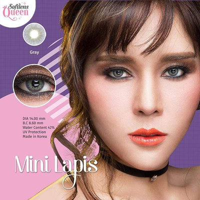 Dream Color Mini Lapis Gray - Dream Color - Softlens Queen - Natural Colored Contact Lenses
