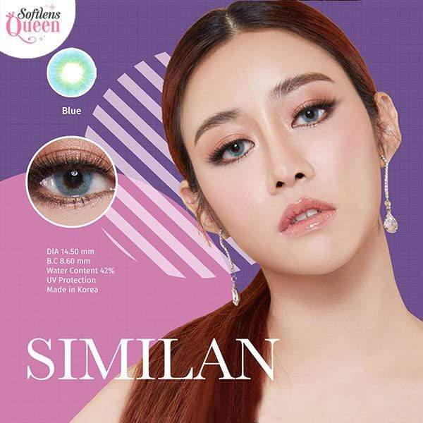 Dream Color Similan Blue - Dream Color - Softlens Queen - Natural Colored Contact Lenses