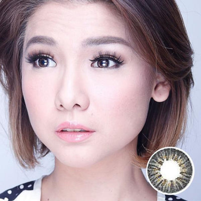 Dubai 3 Tone Black - Dubai 3 Tone - Softlens Queen - Natural Colored Contact Lenses