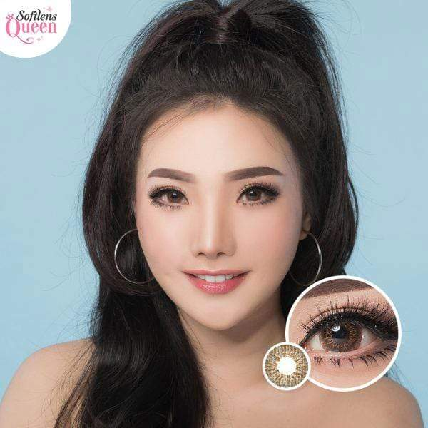 Dubai 3 Tone Brown - Dubai 3 Tone - Softlens Queen - Natural Colored Contact Lenses