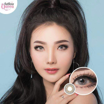 Dubai 3 Tone Gray - Dubai 3 Tone - Softlens Queen - Natural Colored Contact Lenses