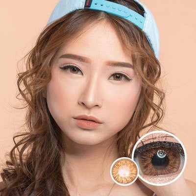 EOS Adelio Brown - EOS - Softlens Queen - Natural Colored Contact Lenses