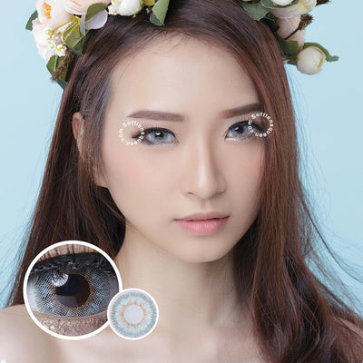 EOS Anuna Gray-Blue - EOS - Softlens Queen - Natural Colored Contact Lenses