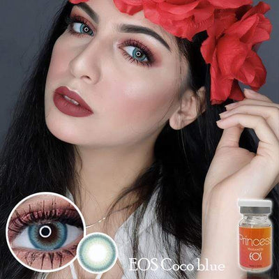 EOS Coco Blue - EOS - Softlens Queen - Natural Colored Contact Lenses