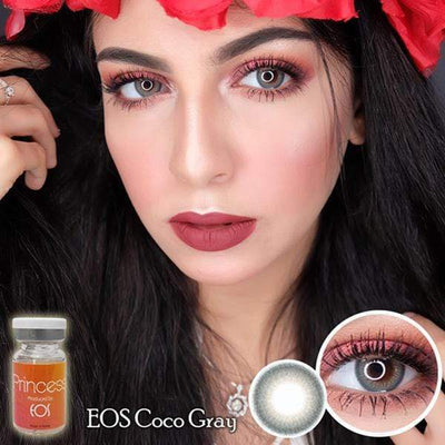 EOS Coco Gray - EOS - Softlens Queen - Natural Colored Contact Lenses