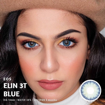 Eos Elin 3T Blue - EOS - Softlens Queen - Natural Colored Contact Lenses