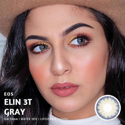 Eos Elin 3T Gray - EOS - Softlens Queen - Natural Colored Contact Lenses