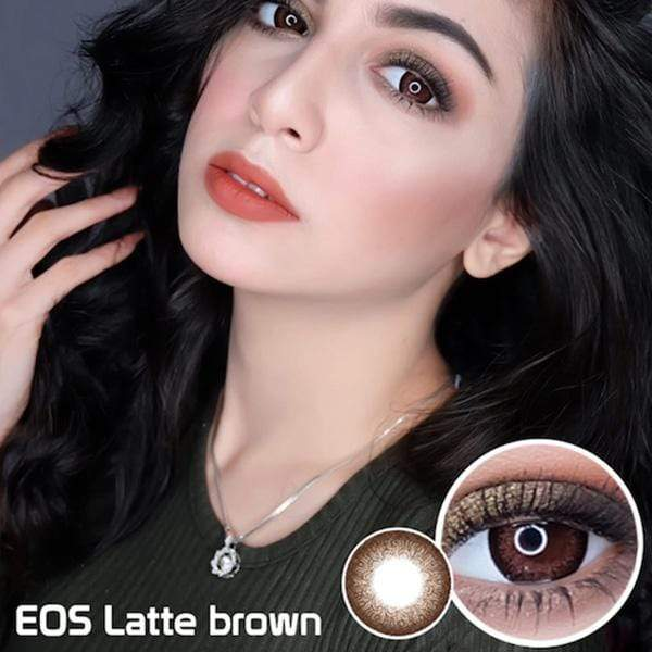 EOS Latte Brown - EOS - Softlens Queen - Natural Colored Contact Lenses