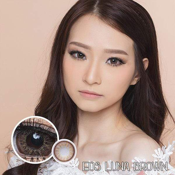 EOS Luna Brown - EOS - Softlens Queen - Natural Colored Contact Lenses