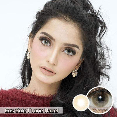 EOS Sole 1Tone Hazel_ Softlens Queen_colored_contact_lens.