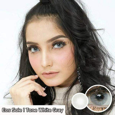 EOS Sole 1Tone White Gray - EOS - Softlens Queen - Natural Colored Contact Lenses