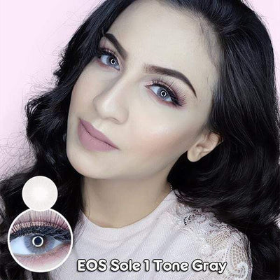 EOS Sole One Tone Gray - EOS - Softlens Queen - Natural Colored Contact Lenses