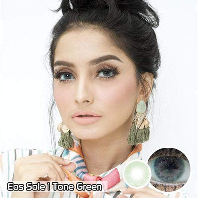 EOS Sole One Tone Green - EOS - Softlens Queen - Natural Colored Contact Lenses