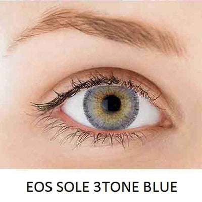 EOS Sole Three Blue - EOS - Softlens Queen - Natural Colored Contact Lenses