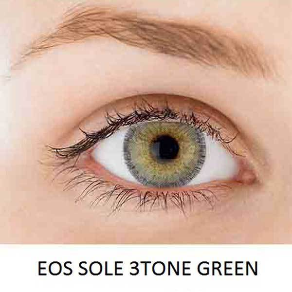 EOS Sole Three Green - EOS - Softlens Queen - Natural Colored Contact Lenses