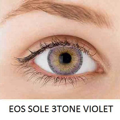 EOS Sole Three Violet - EOS - Softlens Queen - Natural Colored Contact Lenses