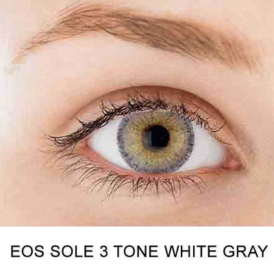 EOS Sole Three White Gray - EOS - Softlens Queen - Natural Colored Contact Lenses
