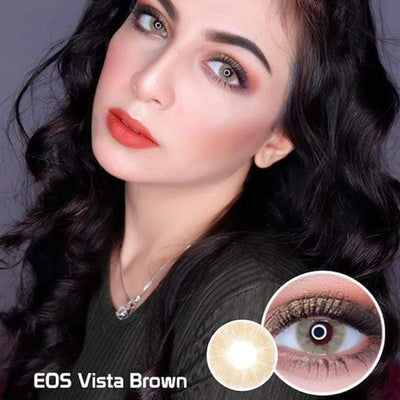 EOS Vista Brown - EOS - Softlens Queen - Natural Colored Contact Lenses
