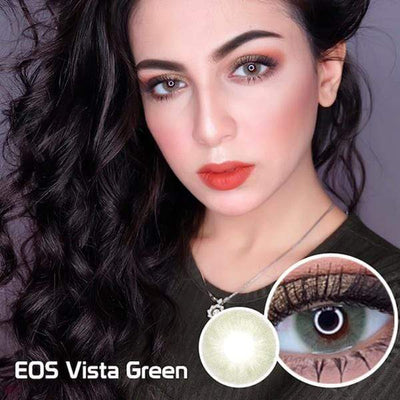 EOS Vista Green - EOS - Softlens Queen - Natural Colored Contact Lenses
