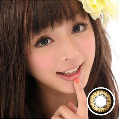 GEO Angel Brown CM834 - Geo Medical - Softlens Queen - Natural Colored Contact Lenses