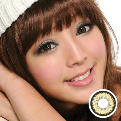 Geo Aurora Brown XCH624 - Geo Medical - Softlens Queen - Natural Colored Contact Lenses