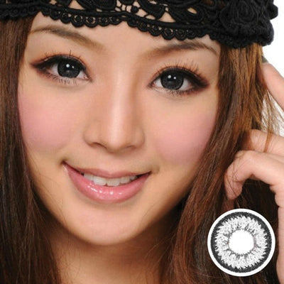 Geo Aurora Gray XCH625 - Geo Medical - Softlens Queen - Natural Colored Contact Lenses