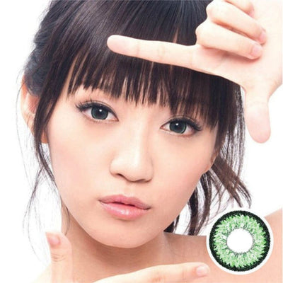 Geo Aurora Green XCH623 - Geo Medical - Softlens Queen - Natural Colored Contact Lenses