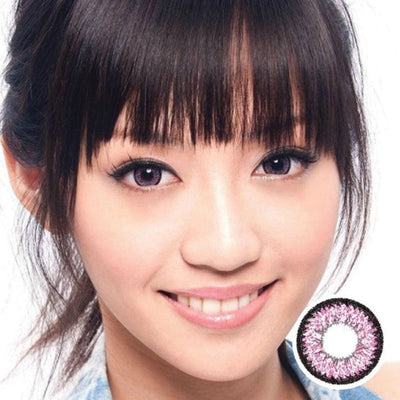 Geo Aurora Pink XCH627 - Geo Medical - Softlens Queen - Natural Colored Contact Lenses