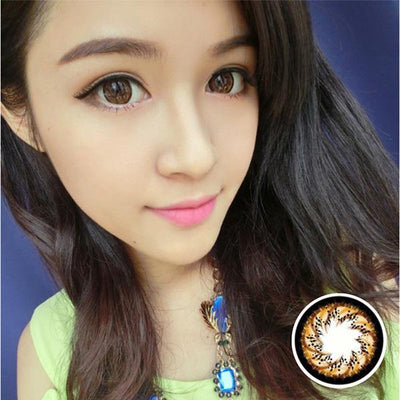 Geo Mimi Cafe WMM504 - Geo Medical - Softlens Queen - Natural Colored Contact Lenses