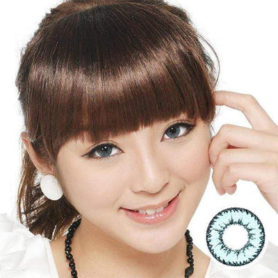 Geo Nudy Blue CH622 - Geo Medical - Softlens Queen - Natural Colored Contact Lenses