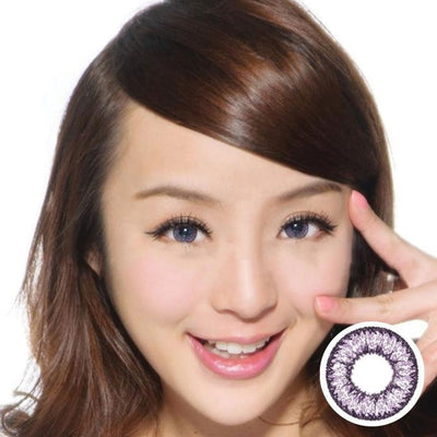 Geo Nudy Violet CH621 - Geo Medical - Softlens Queen - Natural Colored Contact Lenses