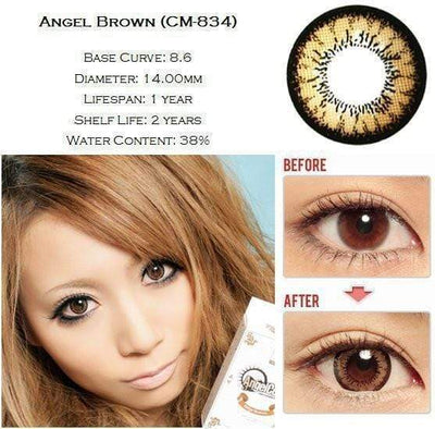 GEO Super Angel Brown - Geo Medical - Softlens Queen - Natural Colored Contact Lenses
