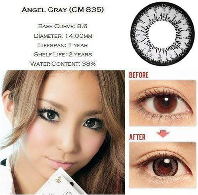GEO Super Angel Gray - Geo Medical - Softlens Queen - Natural Colored Contact Lenses
