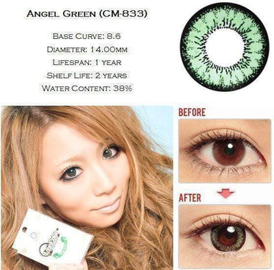 GEO Super Angel Green - Geo Medical - Softlens Queen - Natural Colored Contact Lenses