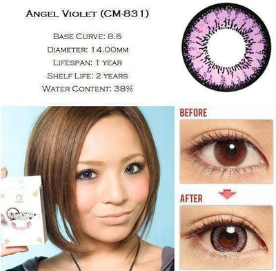 GEO Super Angel Violet - Geo Medical - Softlens Queen - Natural Colored Contact Lenses